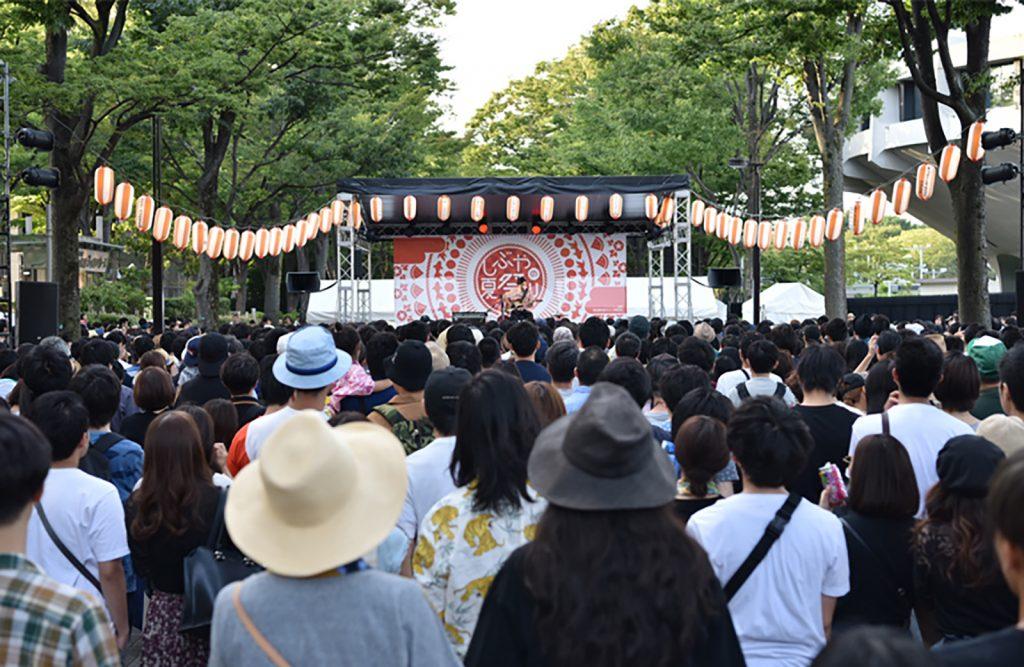 代々木公園で開催される「しぶやの夏祭り」に、ミクシィグループが特別協賛で参加しています。