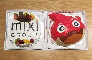 Welcome partyでは、オリジナルケーキの用意も!食べるのがもったいない。